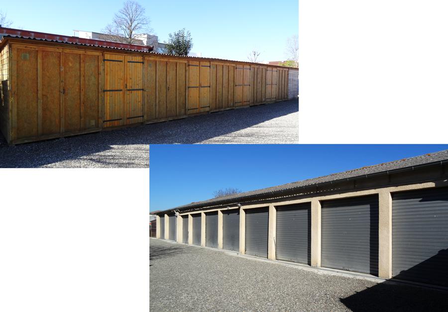 location garages fermés